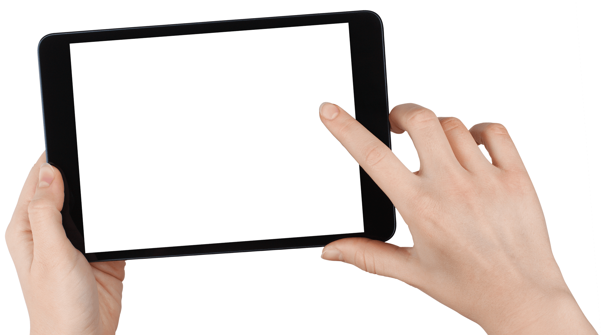 Person holding an iPad